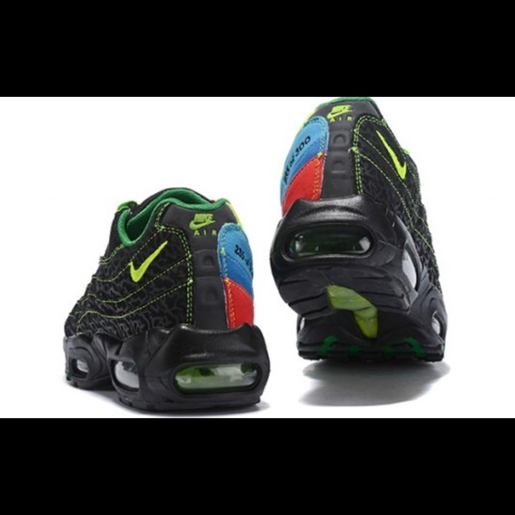 Nike Air Max 95 Black Green Blue Red Men's Women's Running Shoes Sneakers